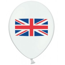 "Balloons 10"" Union Jack - pack 25"