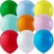 "Balloons 12"" Pastel Assorted Colour Mix - pack 100"