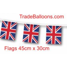 Bunting Large Union Jack Flag  fabric  - 25m (flag 45cm x 30cm)