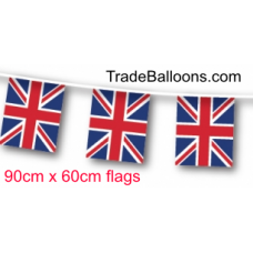 Bunting  Jumbo Union Jack Flag fabric  - 25m (flag 90cm x 60cm)
